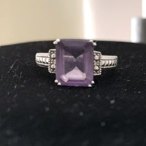 925 sterling, Amethyst ring. Size 7
